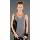 LA Collection Stud Pocket Tank - Gray