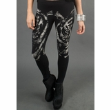 LA Collection Tiger Print Leggings - Black