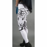 LA Collection Tiger Print Leggings - White