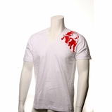 "Legend in Action ""Red Bull"" V Neck T-Shirt White"