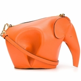 Loewe Elephant Motif Cross Body Bag - Orange