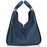 Loewe Hammock Leather Bag - Indigo