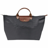 Longchamp Travel Tote Le Pliage - Grey