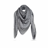 Louis Vuitton M75120 Monogram Shine Shawl - Charcoal Grey
