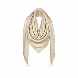 Louis Vuitton M74026 Monogram Shine Shawl - White