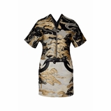 Louis Vuitton Tree Motif Satin Lurex Jacquard Dress - Multicolor