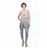 Lucca Couture Harem Pants - Gray