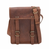 Mac&Lou Arcadius Leather Messenger Bag - Brown