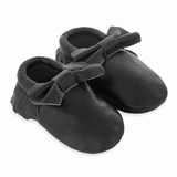 Mac&Lou Baby Bow Leather Moccasins Beauty - Black