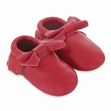 Mac&Lou Baby Bow Leather Moccasins Corvette - Red