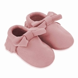 Mac&Lou Baby Bow Leather Moccasins Lemonade - Pink