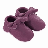 Mac&Lou Baby Bow Leather Moccasins Rain - Purple