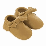Mac&Lou Baby Bow Leather Moccasins Rush - Gold