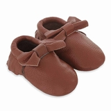 Mac&Lou Baby Bow Leather Moccasins Sugar - Brown