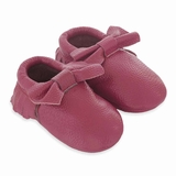 Mac&Lou Baby Bow Leather Moccasins Swing - Fuchsia