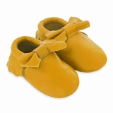 Mac&Lou Baby Bow Leather Moccasins - Yellow