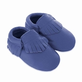 Mac&Lou Baby Gladiator Leather Moccasins - Blue
