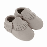 Mac&Lou Baby Gladiator Leather Moccasins Coin - Silver