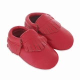 Mac&Lou Baby Gladiator Leather Moccasins Corvette - Red