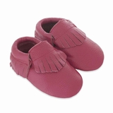 Mac&Lou Baby Gladiator Leather Moccasins - Fuchsia
