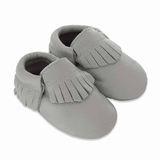 Mac&Lou Baby Gladiator Leather Moccasins - Gray