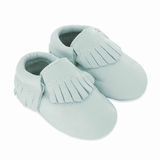 Mac&Lou Baby Gladiator Leather Moccasins Lagoon - Light Blue