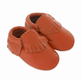 Mac&Lou Baby Gladiator Leather Moccasins - Orange