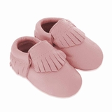Mac&Lou Baby Gladiator Leather Moccasins - Pink