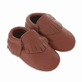 Mac&Lou Baby Gladiator Leather Moccasins Sugar - Brown