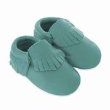 Mac&Lou Baby Gladiator Leather Moccasins - Teal