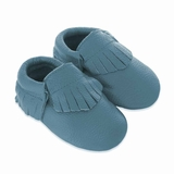 Mac&Lou Baby Gladiator Leather Moccasins Turquoise - Blue
