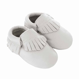 Mac&Lou Baby Gladiator Leather Moccasins Wedding - White