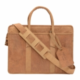 Mac&Lou Darius Leather Briefcase - Brown