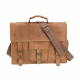 Mac&Lou Eugenius Leather Briefcase - Brown
