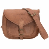 Mac&Lou Florius Leather Crossbody Bag - Brown