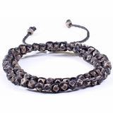 Mac&Lou Gembala 2 Layer Hand Knotted Oxidised Fine Nugget Bracelet - Silver