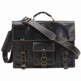 Mac&Lou Ignatius Leather Briefcase - Black