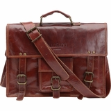 Mac&Lou Ignatius Leather Briefcase - Brown