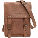 Mac&Lou Minimus Leather Messenger Bag - Brown