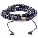 Mac&Lou Nagga 3 Layer Spinal Custom Casted Brass Skulls Bracelet - Black