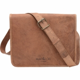 Mac&Lou Orpheus Leather Messenger Bag - Brown