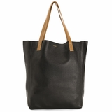 MAC&LOU Perfect Leather Tote Alpha - Black/Camel