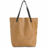 MAC&LOU Perfect Leather Tote Alpha - Camel/Black