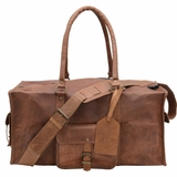 Mac&Lou Procopius Leather Travel Bag - Brown