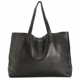 MAC&LOU The Perfect Leather Tote 'Omega' - Black
