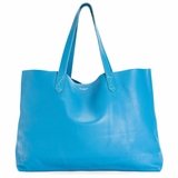 MAC&LOU The Perfect Leather Tote 'Omega' - Blue