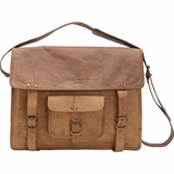 Mac&Lou Tiberius Leather Messenger Bag - Brown