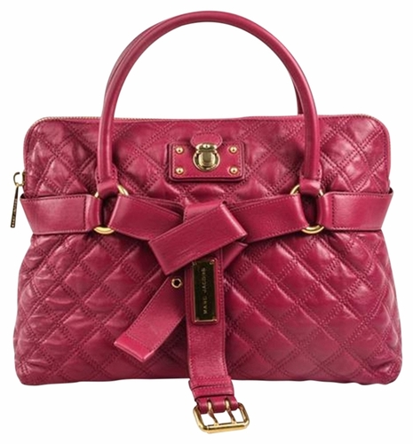 Authentic Marc Jacobs Bruna Quilted Satchel Tote Bag - Fuchsia at ... : marc jacobs quilted satchel - Adamdwight.com