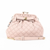 Marc Jacobs Quilted Leather Little Stam Stud Bow Shoulder Bag - Pink