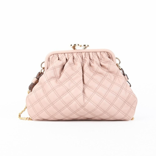 Authentic Marc Jacobs Quilted Leather Little Stam Stud Bow